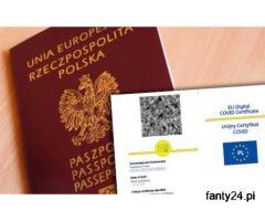 Unijny Certyfikat Covid Paszport UCC Negatywny test